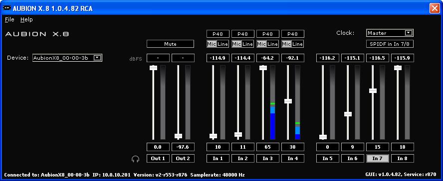 AUBION X.8 GUI Grafische Oberfläche SW